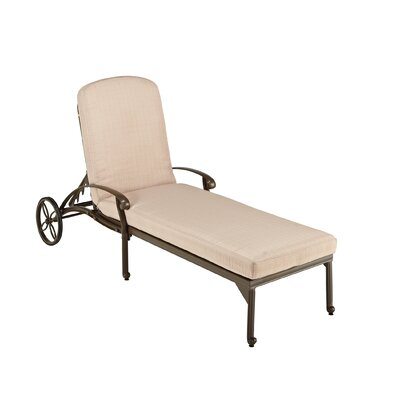 Oliver Chaise Lounge with Cushion Finish: Taupe