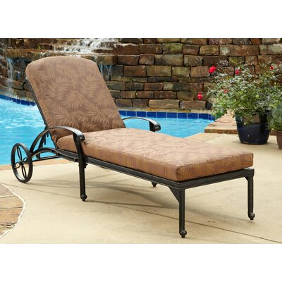 Oliver Chaise Lounge with Cushion Finish: Charcoal