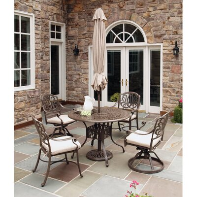 Daniella 5 Piece Dining Set with Umbrella