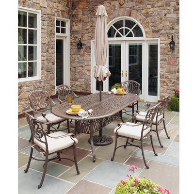 Choteau 7 Piece Dining Set with Umbrella