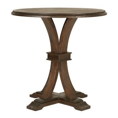 Montcerf Round Bar Height Dining Table Finish: Rustic Java