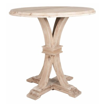 Montcerf Round Bar Height Dining Table Finish: Stone Wash
