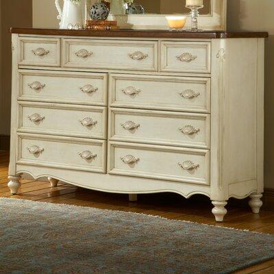 Brecon 9 Drawer Dresser with Mirror