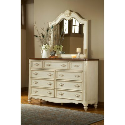 Brecon 9 Drawer Dresser with Mirror