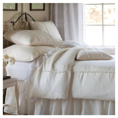 Irenee Duvet Cover Color: Cream, Size: Twin