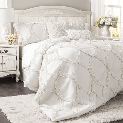 Council Comforter Set Size: Queen, Color: White