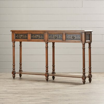 Bergeronnes Console Table Finish: Black and Brown