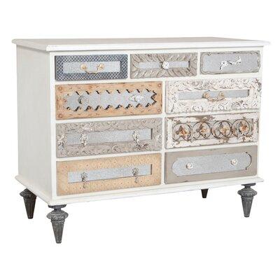 Maelle Mirror Mosaic 9 Drawer Dresser