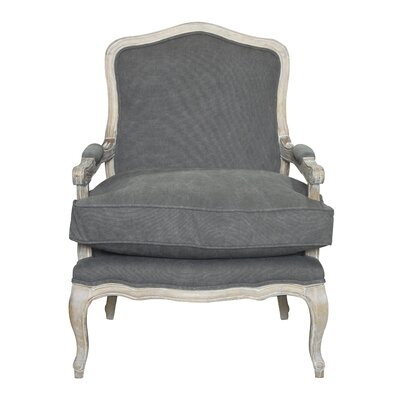 Beulah Arm Chair Upholstery: Frost Gray