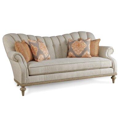 Flores Upholstered Brewster Channel Back Sofa