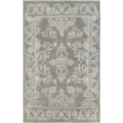 Bouchette Moss Light Gray/Ivory Area Rug Rug Size: Rectangle 4 x 6