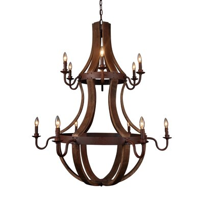 Wendell 12-Light Candle-Style Chandelier