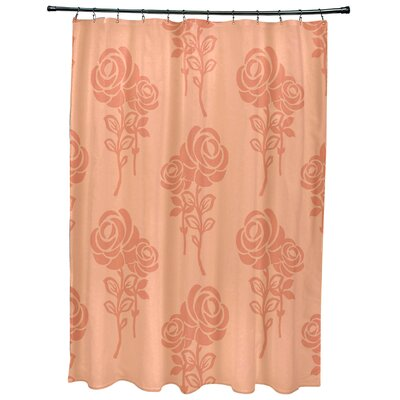 Grovetown Floral Print Shower Curtains Color: Peach
