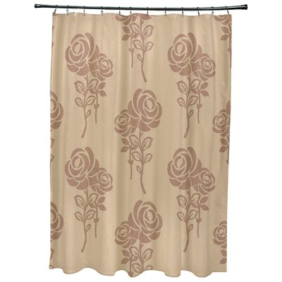 Grovetown Floral Print Shower Curtains Color: Taupe