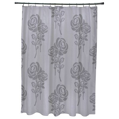 Grovetown Floral Print Shower Curtains Color: Gray