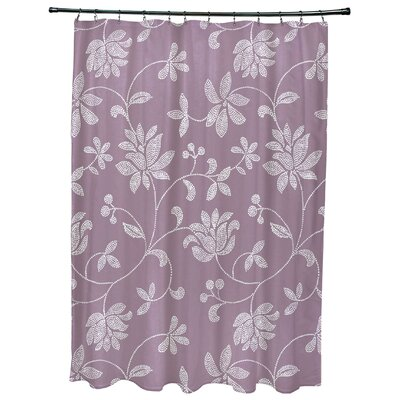 Grovetown Floral Print Shower Curtain Color: Lavender