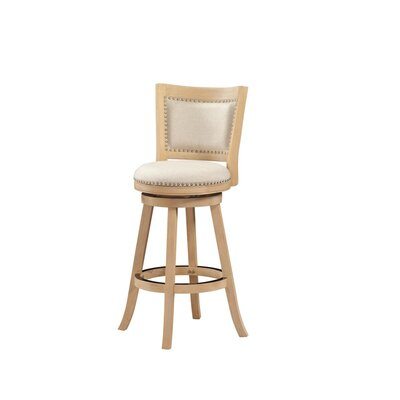 Hettinger 29 Swivel Bar Stool Finish: Driftwood Creme