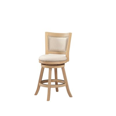 Outten 24 Swivel Bar Stool Finish: Ivory Cream-wash