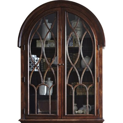 Donie Lighted China Cabinet Top Color: Mahogany