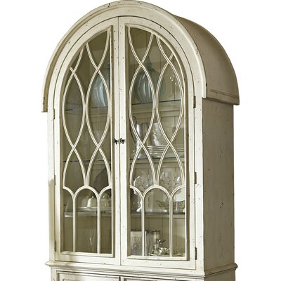 Donie Lighted China Cabinet Top Color: White