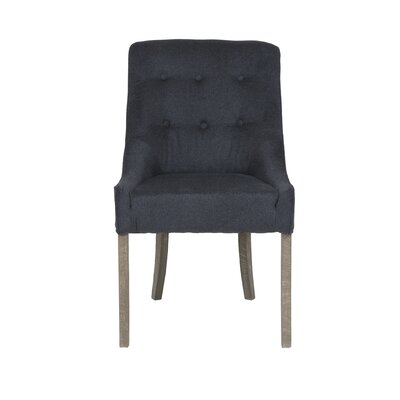 Lakeside Maxwell Parson Chair Upholstery: Charcoal
