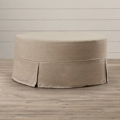 Twin Bridges Round Upholstered Ottoman