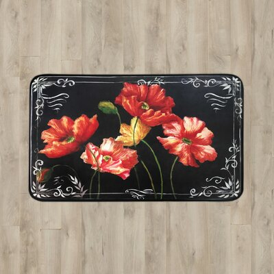 Parma Growing Flowers Kitchen Mat Rug Size: 16 x 26