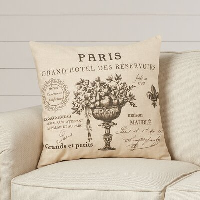 Beaucanton Script Linen Throw Pillow