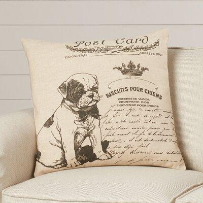Elzear Dog Linen Throw Pillow