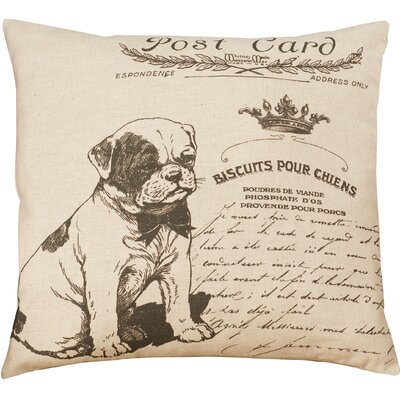 Elzear Dog Linen Throw Pillow
