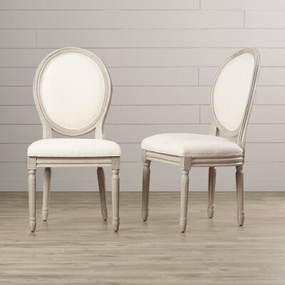 Leta Side Chair Finish: Light Beige/Rustic Gray