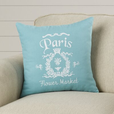 Circee Flower Market Cotton Throw Pillow Color: Aqua