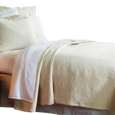Levesque Coverlet Size: Twin, Color: Ecru