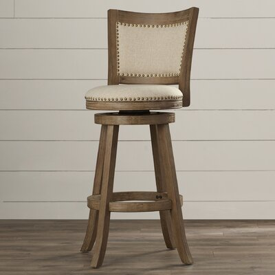 Hettinger 29 Swivel Bar Stool Finish: Driftwood Gray