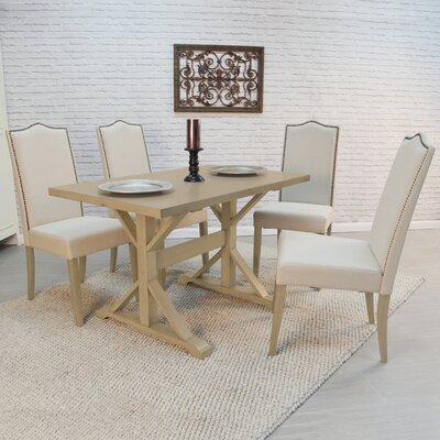 Pendergrass 5 Piece Dining Set Finish: Gray