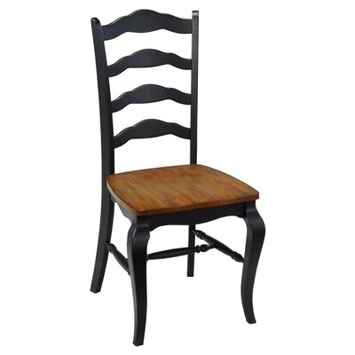 Allaire Solid Wood Dining Chair Side Chair Finish: Black