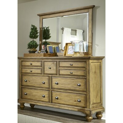 Angeline 7 Drawer Double Dresser with Mirror