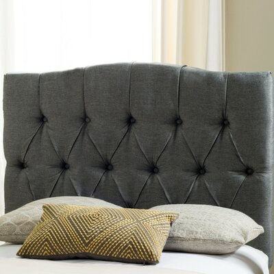 Ellecourt Upholstered Panel Headboard Size: King, Color: Taupe, Upholstery: Linen