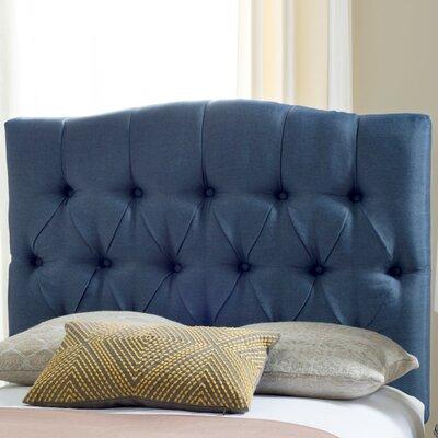 Ellecourt Twin Upholstered Panel Headboard Upholstery: Navy