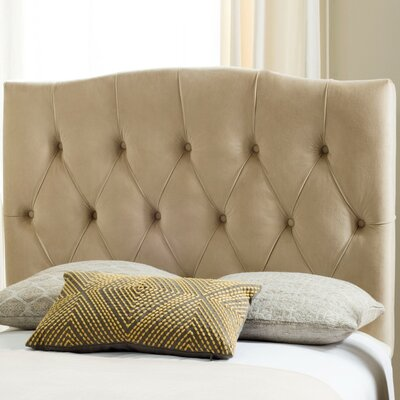 Ellecourt Twin Upholstered Panel Headboard Upholstery: Buckwheat