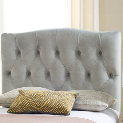 Ellecourt Twin Upholstered Panel Headboard Upholstery: Pewter