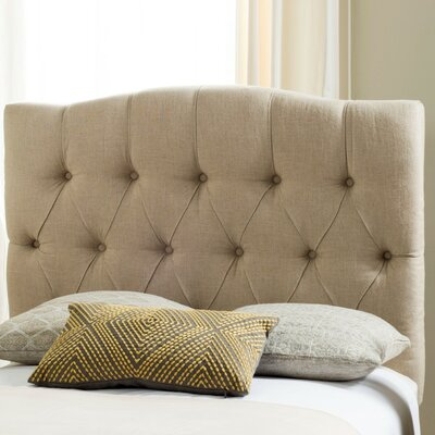 Ellecourt Twin Upholstered Panel Headboard Upholstery: Hemp