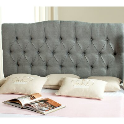 Ellecourt Full Upholstered Panel Headboard Upholstery: Gray