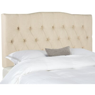 Ellecourt Full Upholstered Panel Headboard Upholstery: Hemp