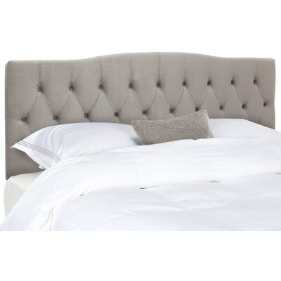 Ellecourt Full Upholstered Panel Headboard Upholstery: Pewter