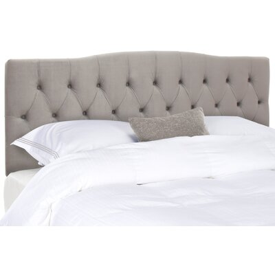 Ellecourt Queen Upholstered Panel Headboard Upholstery: Pewter