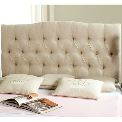 Ellecourt Queen Upholstered Panel Headboard Upholstery: Hemp