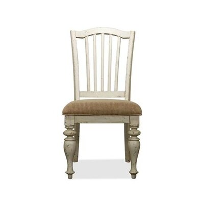 Clementine Solid Wood Dining Chair (Set of 2) Finish: Dover White