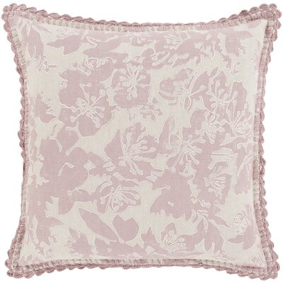 Aguilera Throw Pillow Size: 18 H x 18 W x 4 D, Color: Salmon
