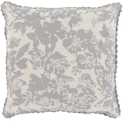 Arabi Throw Pillow Size: 18 H x 18 W x 4 D, Color: Gray